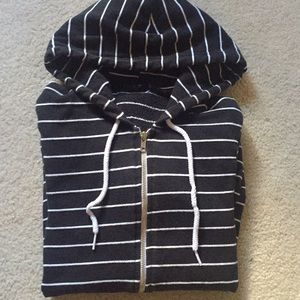 American Apparel Striped Zip up